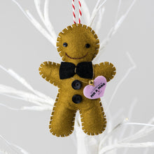 Load image into Gallery viewer, Gingerbread Groom Christmas Decoration