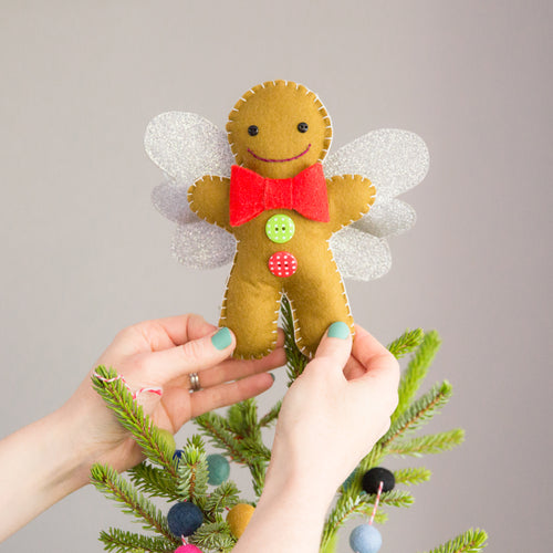 Handmade Gingerbread Man Tree Topper