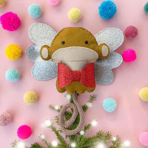 Monkey Christmas Tree Topper