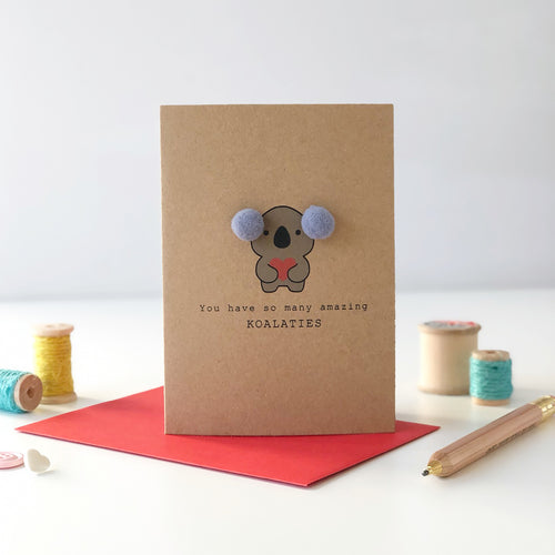 Koala Valentine's Day Card