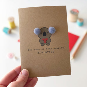 Koala card for loved one