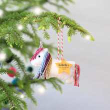 Rainbow Unicorn Christmas Tree Decoration