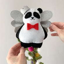 Load image into Gallery viewer, Panda Christmas Tree Topper