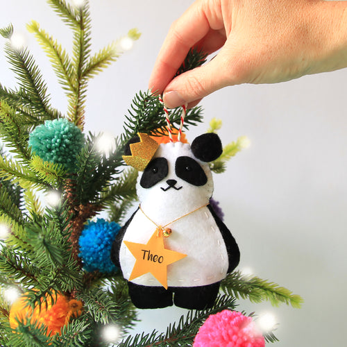 Panda Christmas Tree Decoration