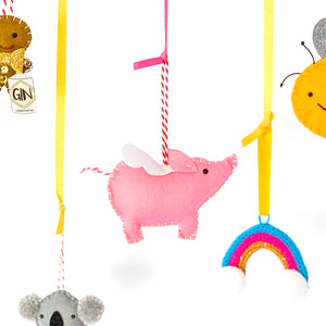 Pig Personalised Christmas Decoration