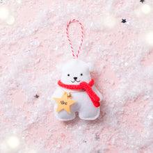 Load image into Gallery viewer, Mr Polar Bear Christmas Ornament
