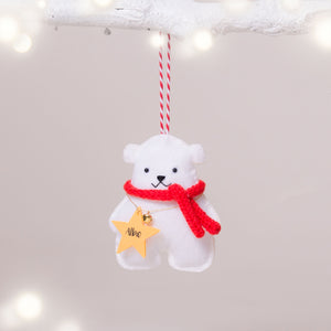 Mr Polar Bear Christmas Ornament