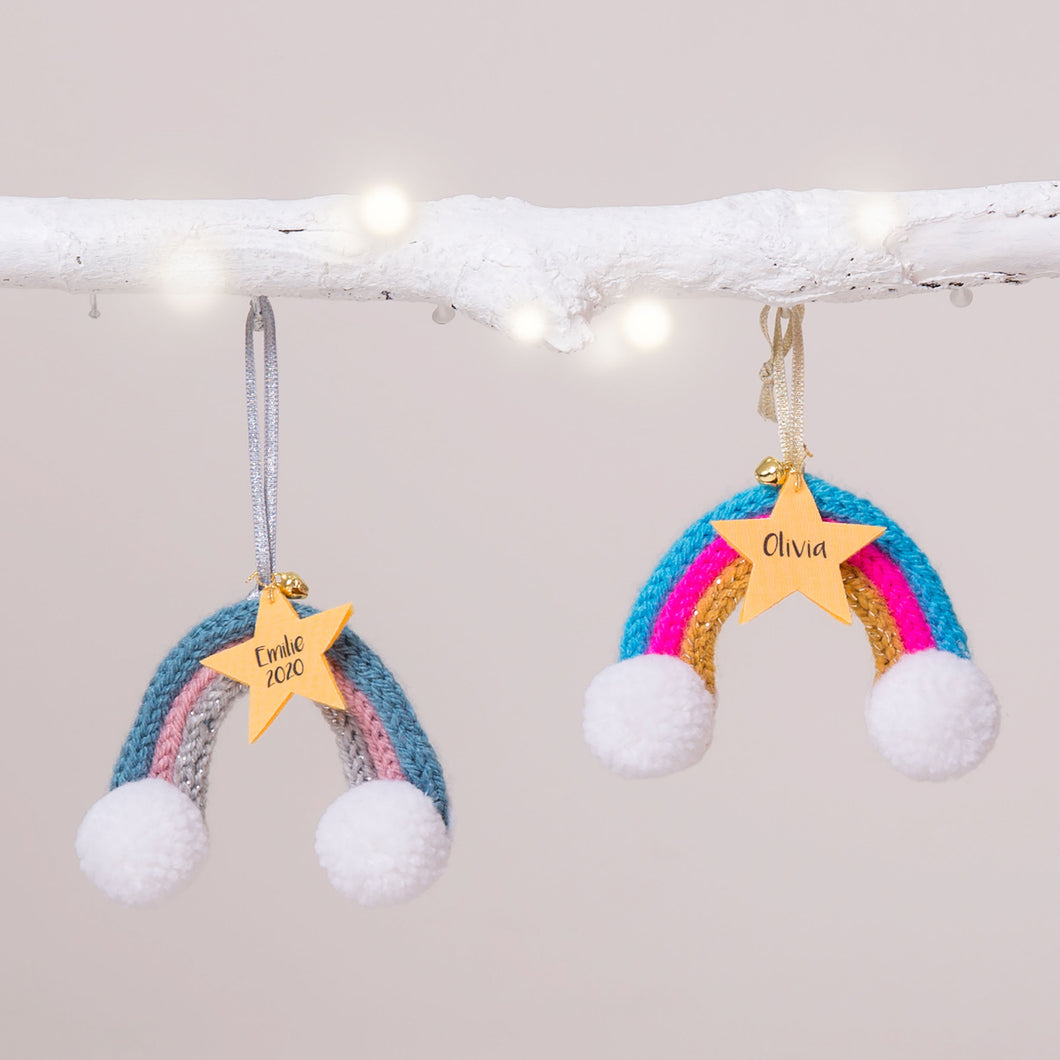 Personalised Rainbow Christmas Decoration