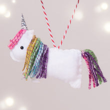 Load image into Gallery viewer, Rainbow Unicorn Christmas Tree Decoration