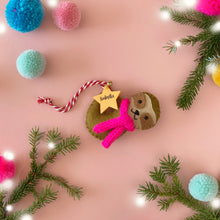 Load image into Gallery viewer, Sloth Christmas Tree Decoration