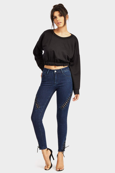 A17W-1200010592-DIM-XS-jeans-with-lace-up-detail-near-thigh-and-tip-of-leg-mid-blue-jl5009