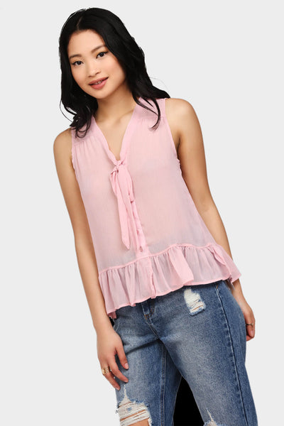 S17W-1000004102-PNK-6-sleeveless-pussy-bow-top-mid-pink-jl1864