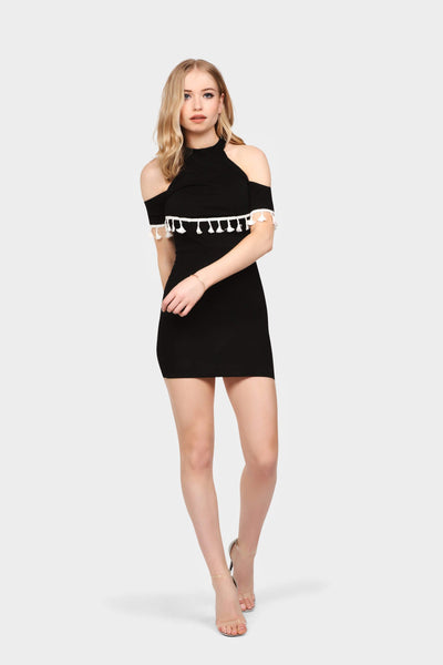 S17W-1300001460-BTE-6-cold-shoulder-tassel-mini-dress-black-jl0562