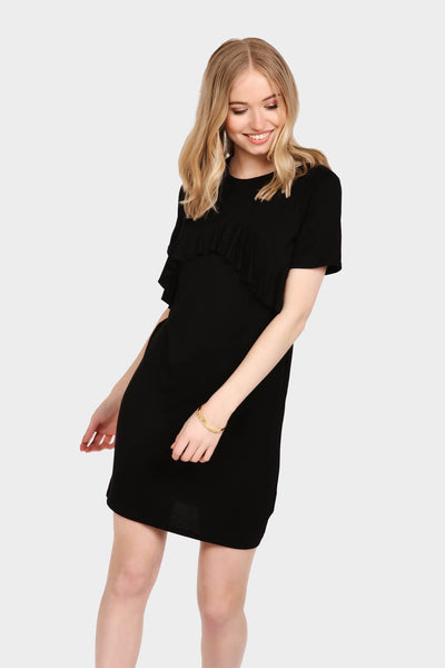 S17W-1300002041-BCK-6-curved-frill-front-tunic-dress-black-jl0788