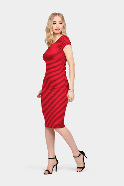 S17W-1300002327-RED-6-rib-stripe-mini-dress-mid-red-jl0892