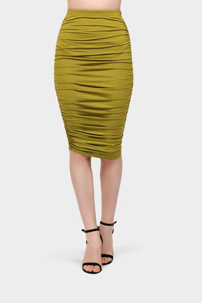 S17W-1900003811-ADO-6-ruched-midi-skirt-mid-green-jl0873