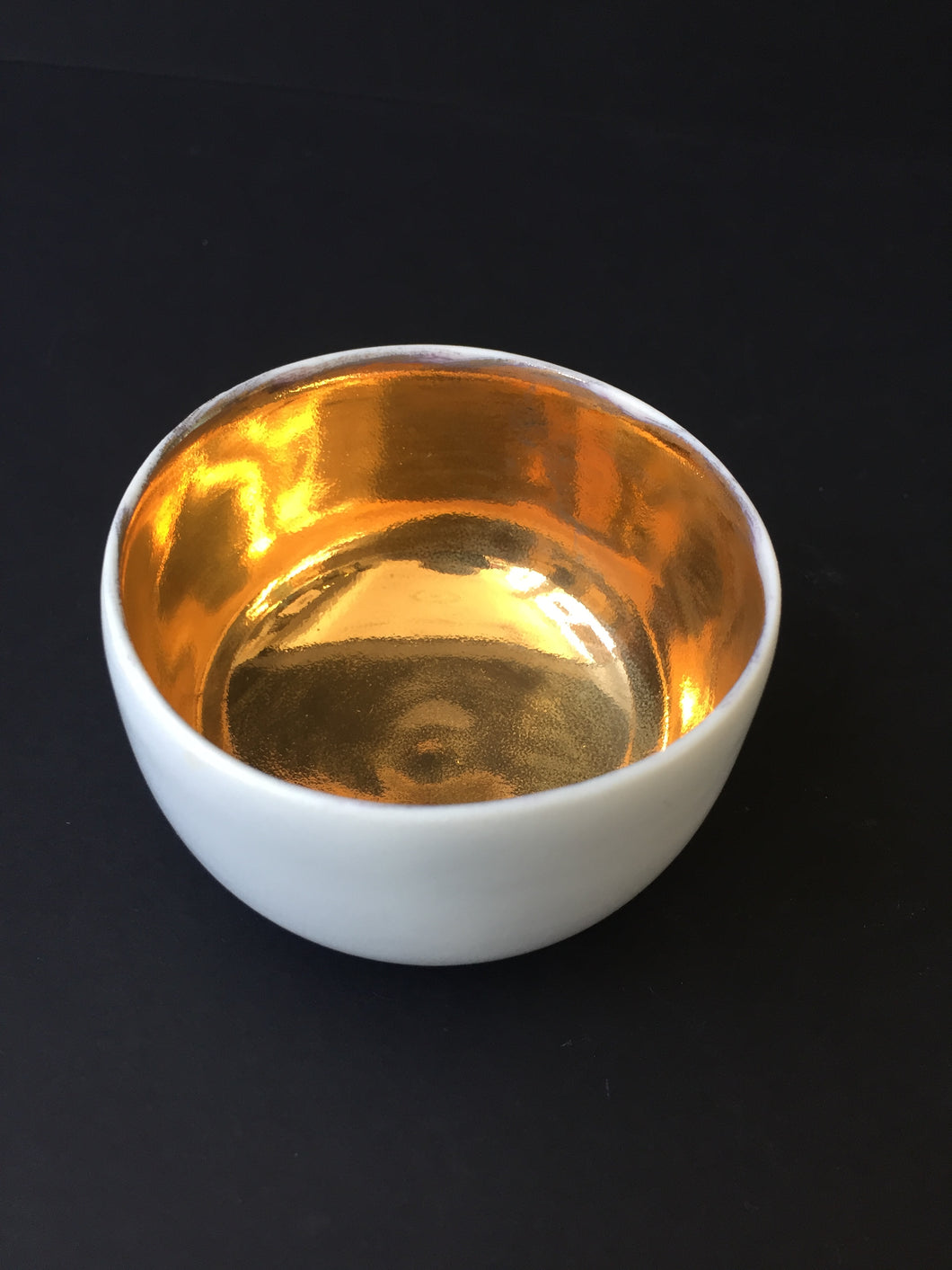 Porcelain and Gold Lustre Bowl 8cm