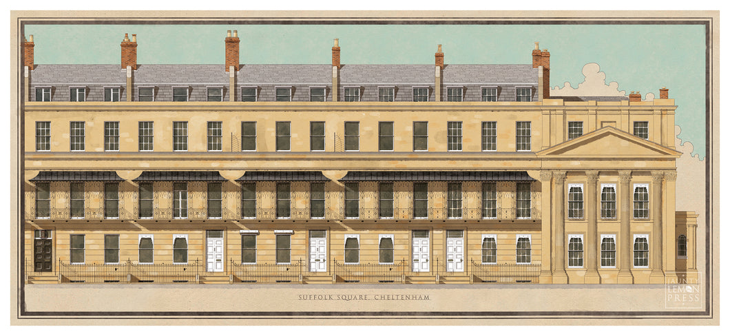 Suffolk Square, Cheltenham (Mounted Print)