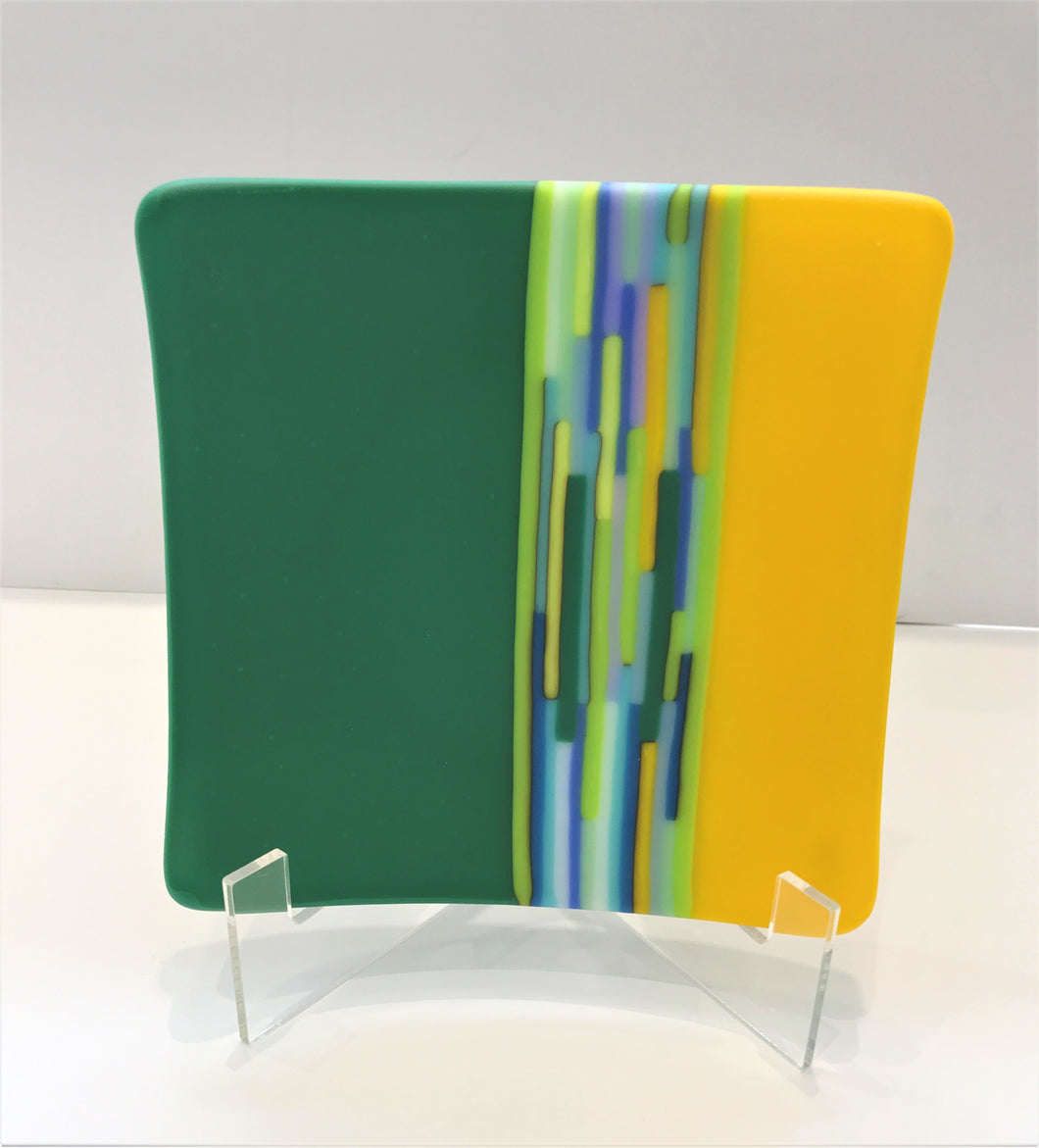Linear Dish (yellow / green)