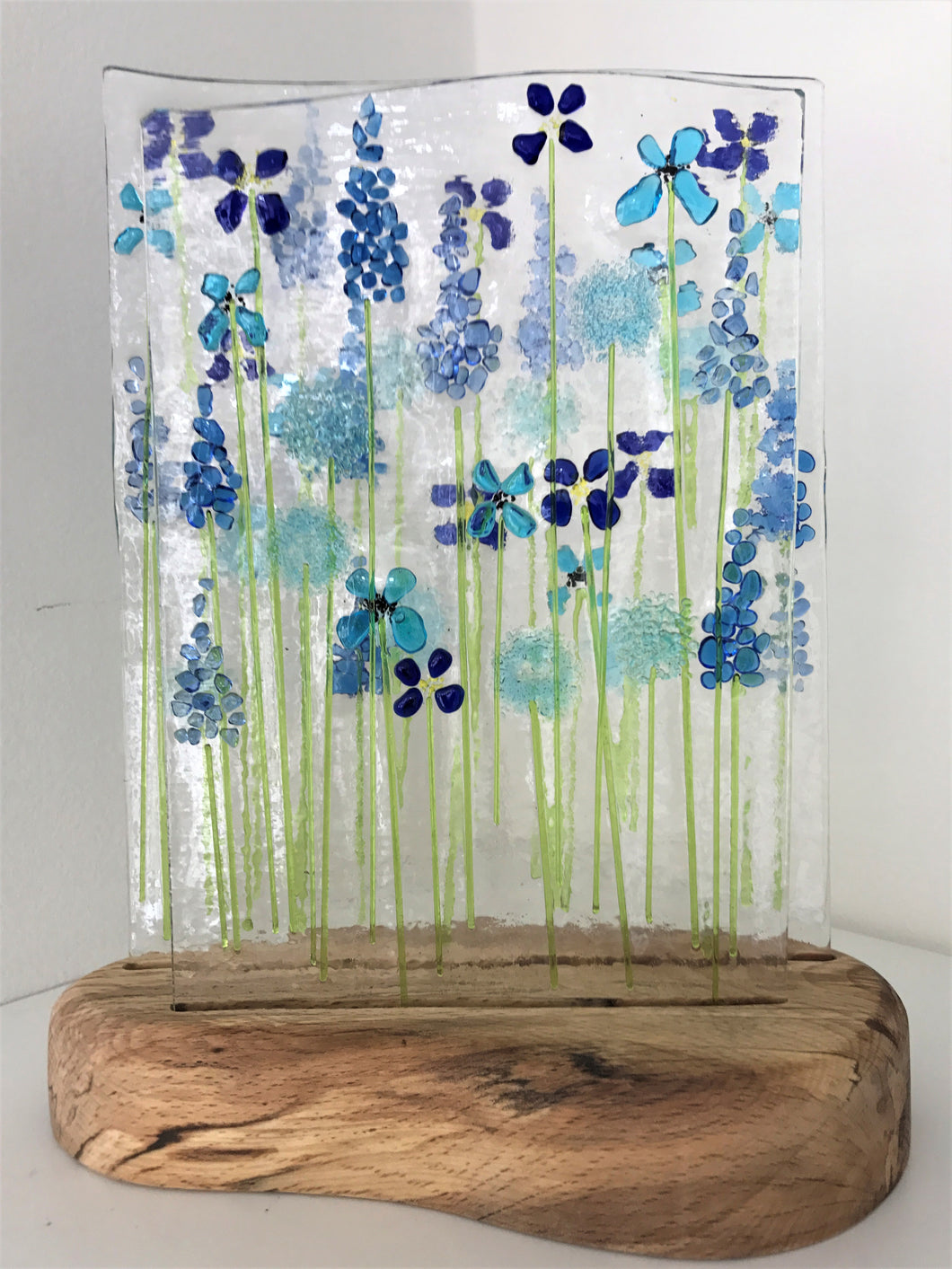 Double Blue Wildflower Panel