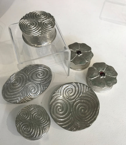 Pewter Trinket Boxes and Dishes