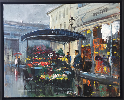 Promenade Cheltenham 'The Flower Man's Beautiful Blooms In The Rain'