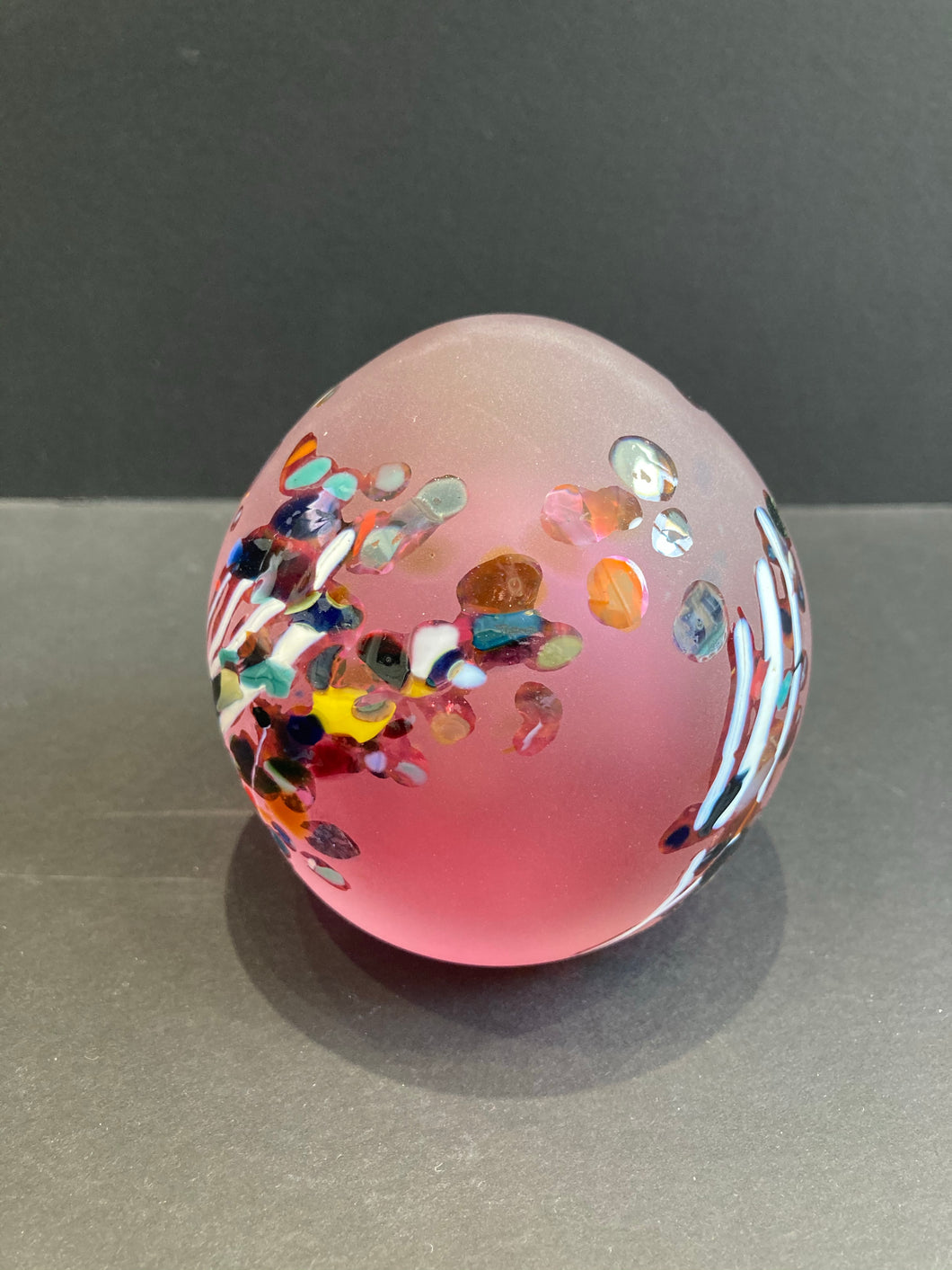 Shallows Pink Paperweight