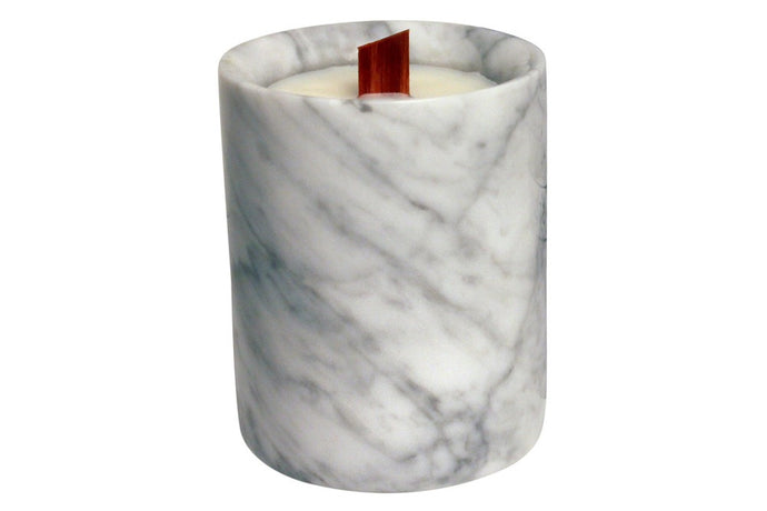 CARRARA WHITE MARBLE CANDLE