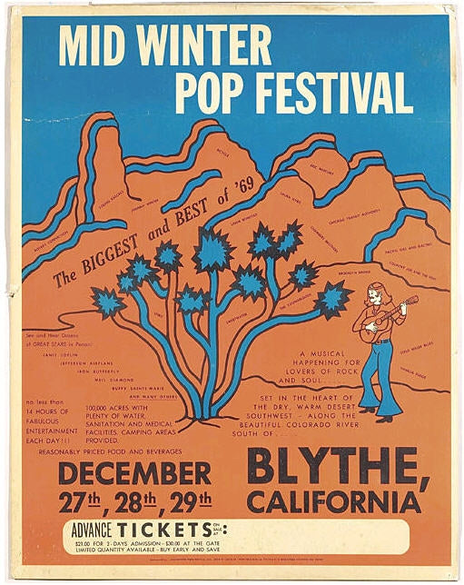 Mid Winter Pop Festival. Blythe, California 1969
