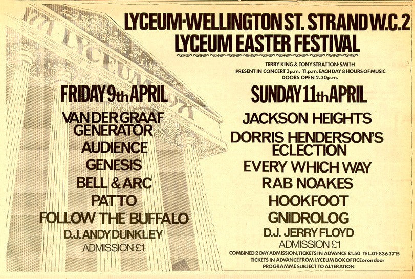 Lyceum Easter Festival , London1971