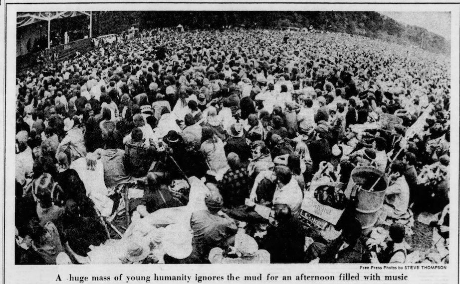 The Open Air Celebration - Michigan State University 1970