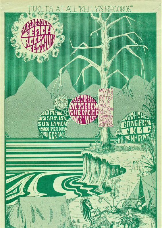 Aldergrove Beach Rock Festival, B.C, Canada. May 17-19, 1969.
