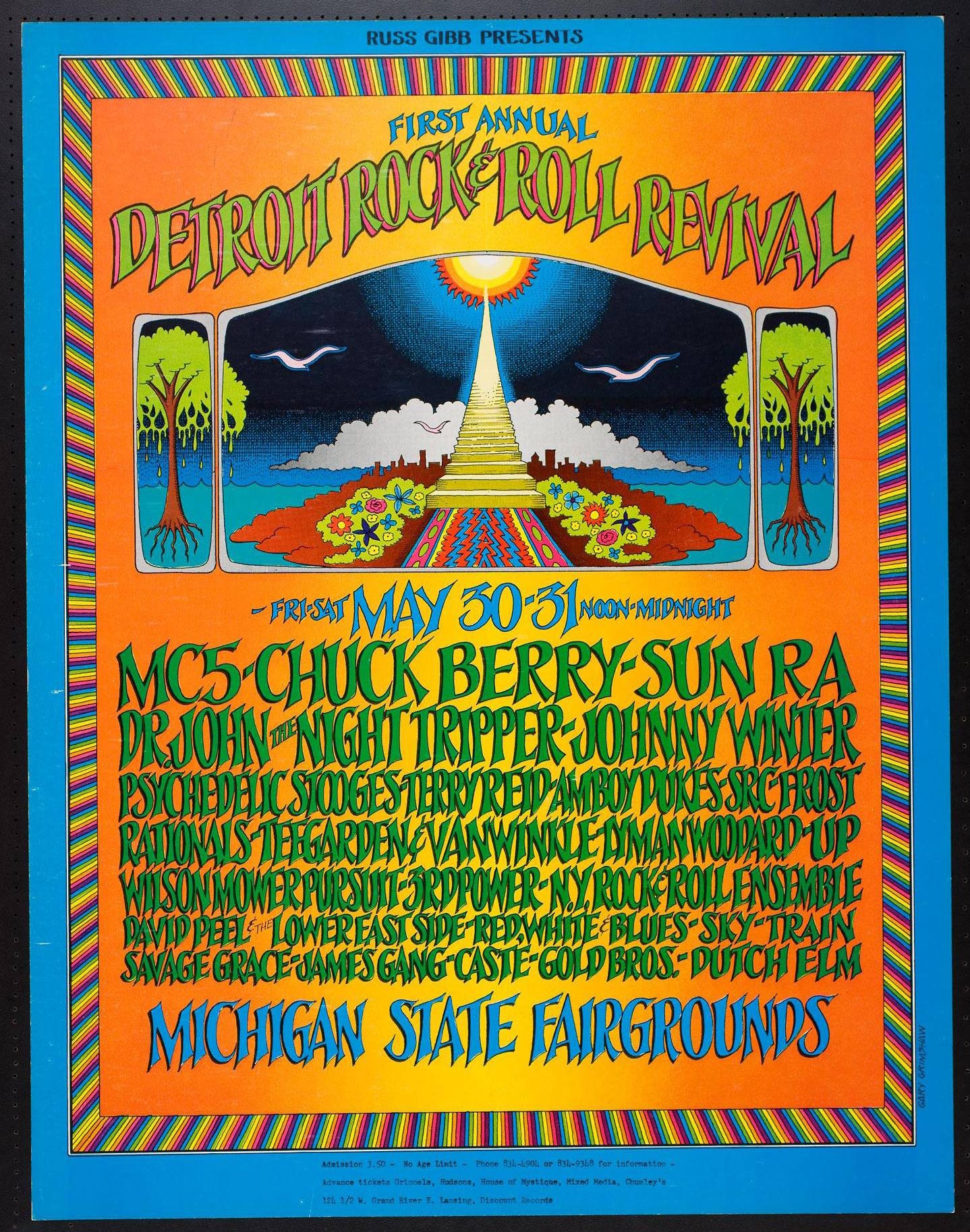The First Annual Detroit Rock & Roll Revival, Detroit, Michigan State Fairgrounds May 30-31, 1969