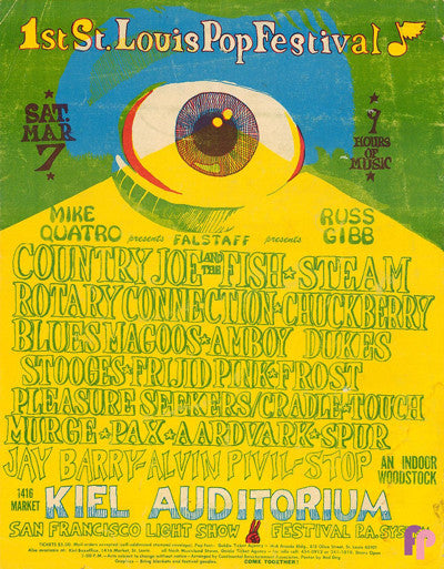 1st St. Louis Pop Festival, Kiel Auditorium, 1970