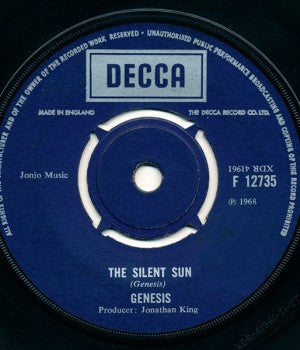 Genesis - The Silent Sun b/w That's Me