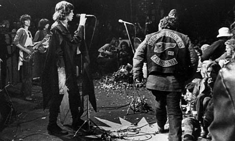 Jagger looks on as the Hells Angels remove someone from this life