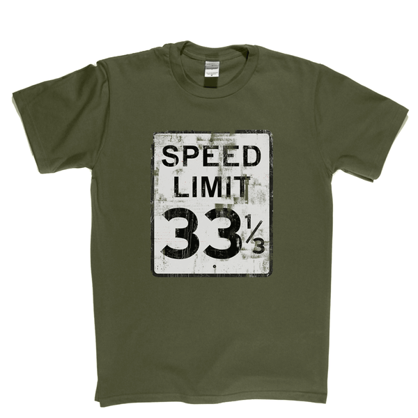 Speed Limit 33 1/3 USA T-Shirt