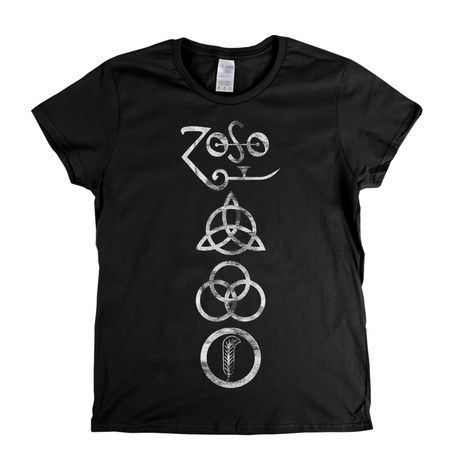Led Zeppelin Symbols Womens T-Shirt