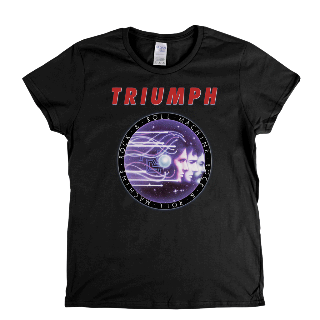 Triumph Rock And Roll Machine Womens T-Shirt