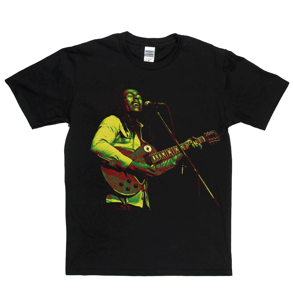 Bob Marley Red Gold And Green T-Shirt