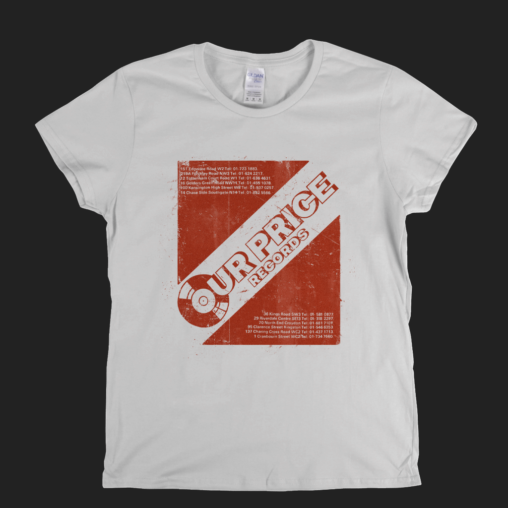 Our Price Records Womens T-Shirt