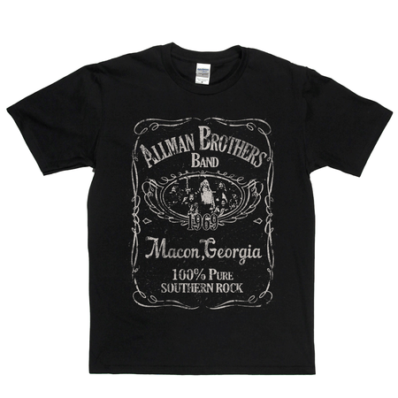 Allmans Brothers Band Liquor Label T-Shirt