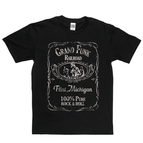 Grand Funk Railroad Liquor Label T-Shirt