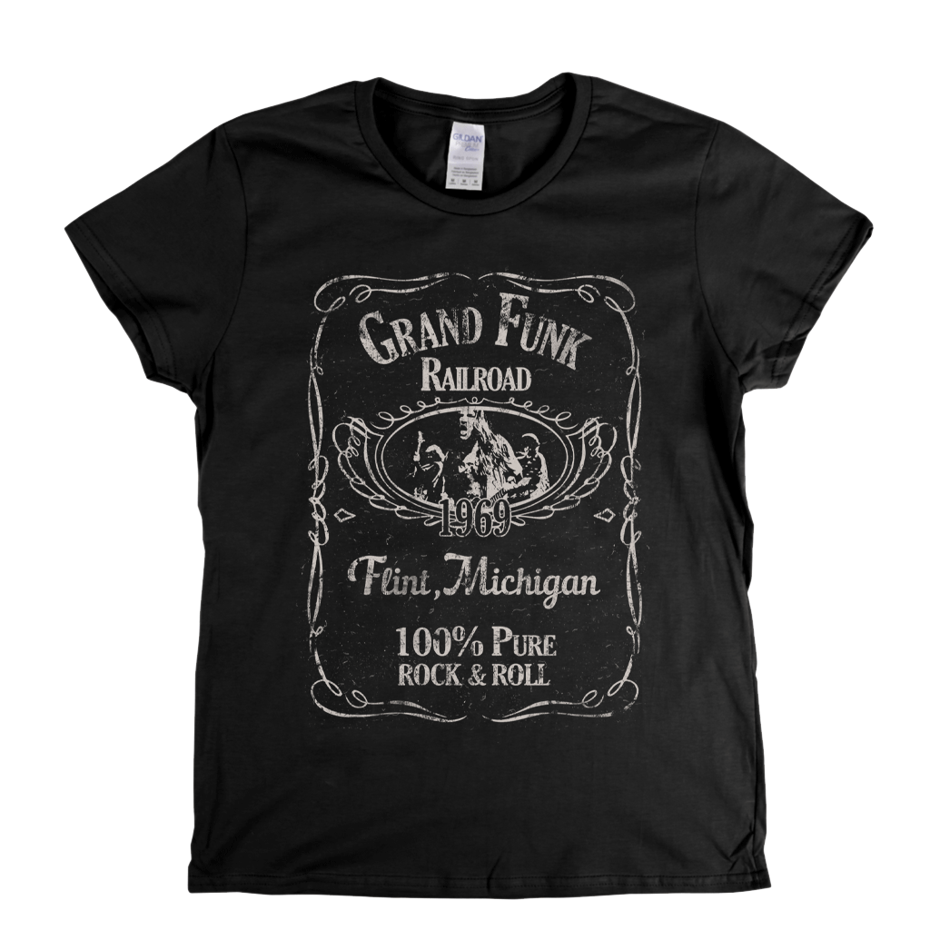 Grand Funk Railroad Liquor Label Womens T-Shirt