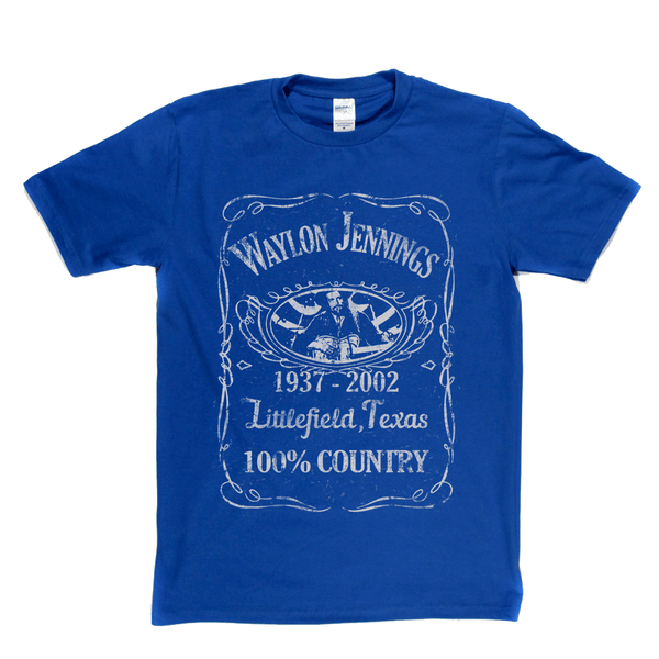 Waylon Jennings Liquor Label T-Shirt