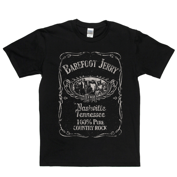 Barefoot Jerry Liquor Label T-Shirt