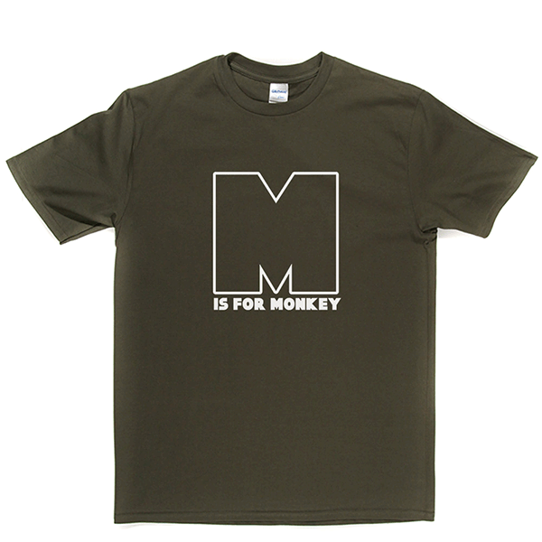 M is for Monkey T Shirt