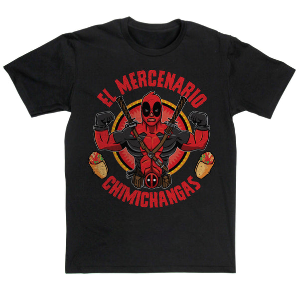 El Mercanario Chimichangas T Shirt Inspired By Deadpool