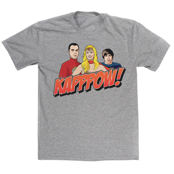 Kapppow Super Heroes T Shirt Inspired By Big Bang Theory