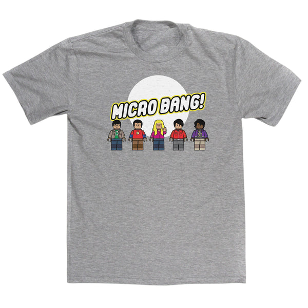 MicroBang Mashup T Shirt Inspired By Big Bang Theory & The Lego Movie